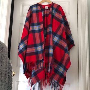 Pendleton Wool Blanket Wrap Poncho